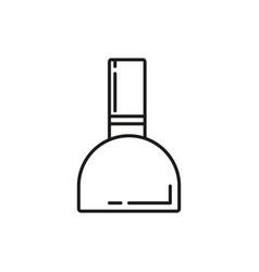 Nail ink bottlethin line icon design vector