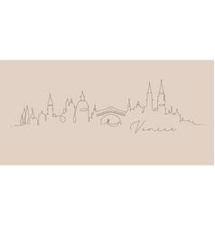 pen line silhouette venice beige vector image
