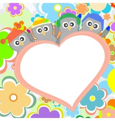 Penguin in love for Valentines greetings vector image