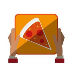 Pizza flat shadow vector