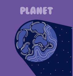 Pluto milkyway planet vector