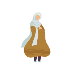 pregnant muslim woman modern arab girl in vector image