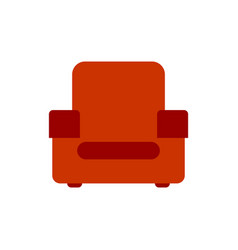 red armchair isolated upholstered furniture vector image