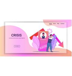 rejected frustrated businessman bankrupt business vector image