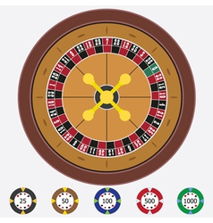 Roulette with chips vector