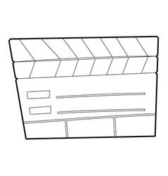slapstick icon outline style vector image
