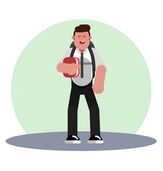 student with backpack vector image