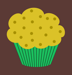 Sweet dessert in flat design muffin vector