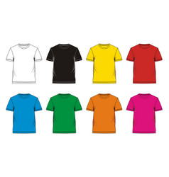 T-shirt template colorful vector
