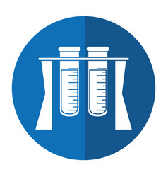 Test tube rack medicine laboratory shadow vector
