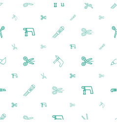 Trim icons pattern seamless white background vector