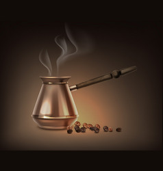 turkish coffee pot vector image