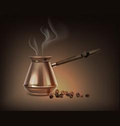 Turkish coffee pot vector