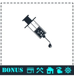 Vaccination icon flat vector image vector image