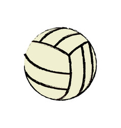 volleyball ball sport competition element vector image