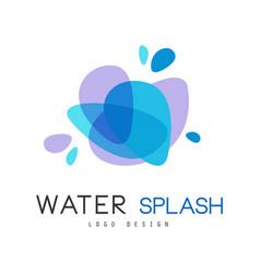 water splash logo design brand identity template vector image