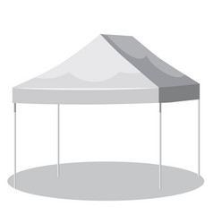 White canopy or tent vector