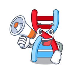 With megaphone dna molecule character cartoon vector