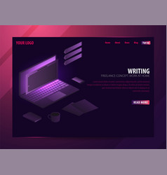 writer can use for web banner or infographics vector image