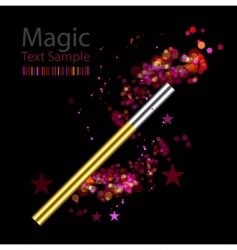 beautiful magic background with wand vector image