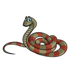 Cartoon striped snake vector image