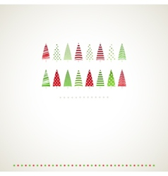 Fir-trees winter events background vector image vector image