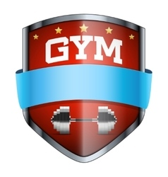 Gym Shield badge vector image vector image