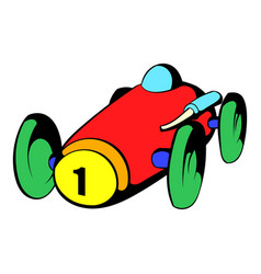 racing car icon icon cartoon vector image