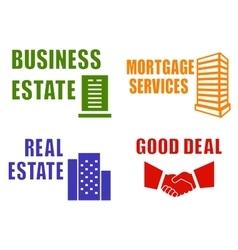 set concept estate icons vector image