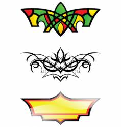 tribal tattoo designs vector image vector image