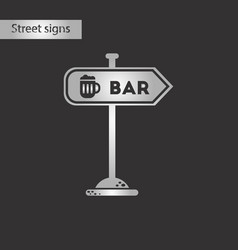 black and white style icon sign of bar vector image