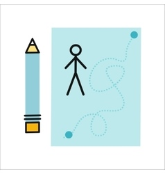 Drawing in pencil on sheet paper vector