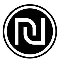 israeli shekel currency symbol vector image vector image