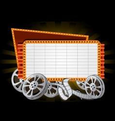 movie marquee vector image