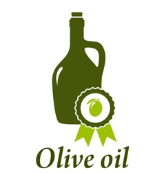 Olive oil bottle premium quality vector