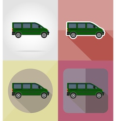 transport flat icons 09 vector image vector image