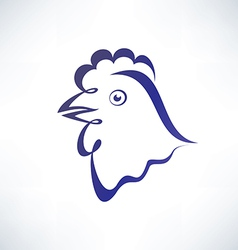 chicken isolated symbol outlined sketch vector image vector image