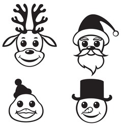 christmas muzzles vector image vector image