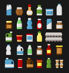 product items set food and drinks icons vector image vector image