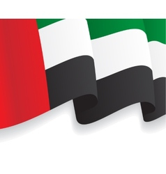 Background with waving UAE Flag vector image vector image