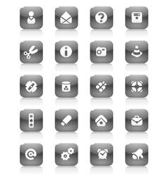 Black buttons miscellaneous vector image