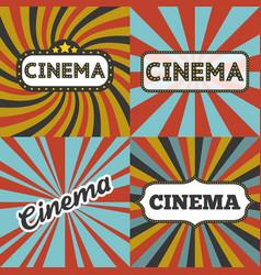 cinema headline in retro frame vector image