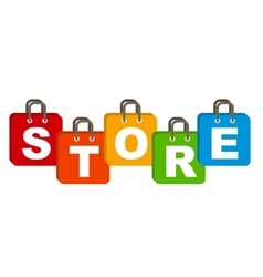 Store Bag Concept of Discount vector image vector image