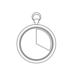 the 20 seconds minutes stopwatch sign vector image