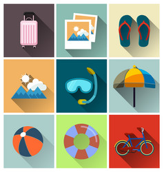 travel flat icon vector image