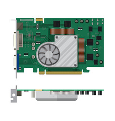 video card isolated on white vector image