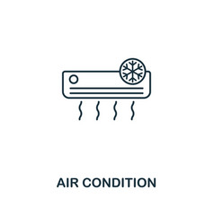 air condition icon thin style design from vector image