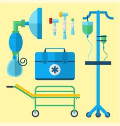 Ambulance medicine health emergency car vector