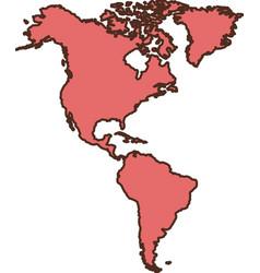 america continent icon vector image