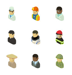 appearance of people icons set isometric style vector image